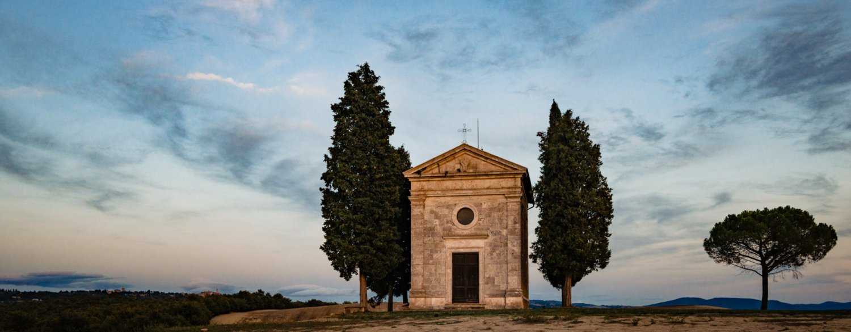 De Cappella della Madonna di Vitaleta in de Val d'Orcia